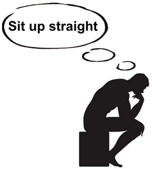 sit up straight thinker